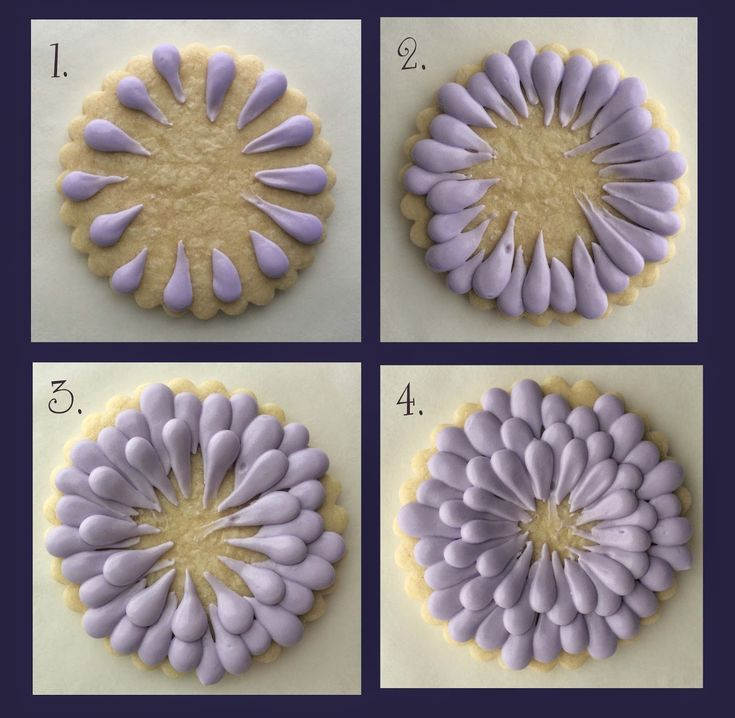 Zinnia Summer Flower Decorated Iced Sugar Cookies - cookie decorating tutorial.  Galletas decoradas.