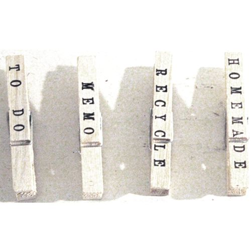 clothespins with text and magnet