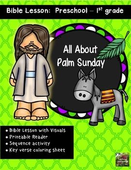 Palm Sunday Bible Lesson All About Series Kindergartenpreschool