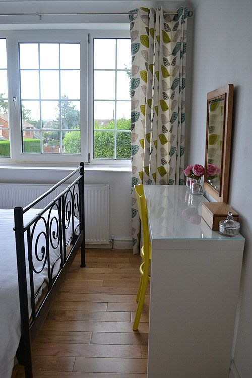 Bedroom makeover with ikea malm dressing table.