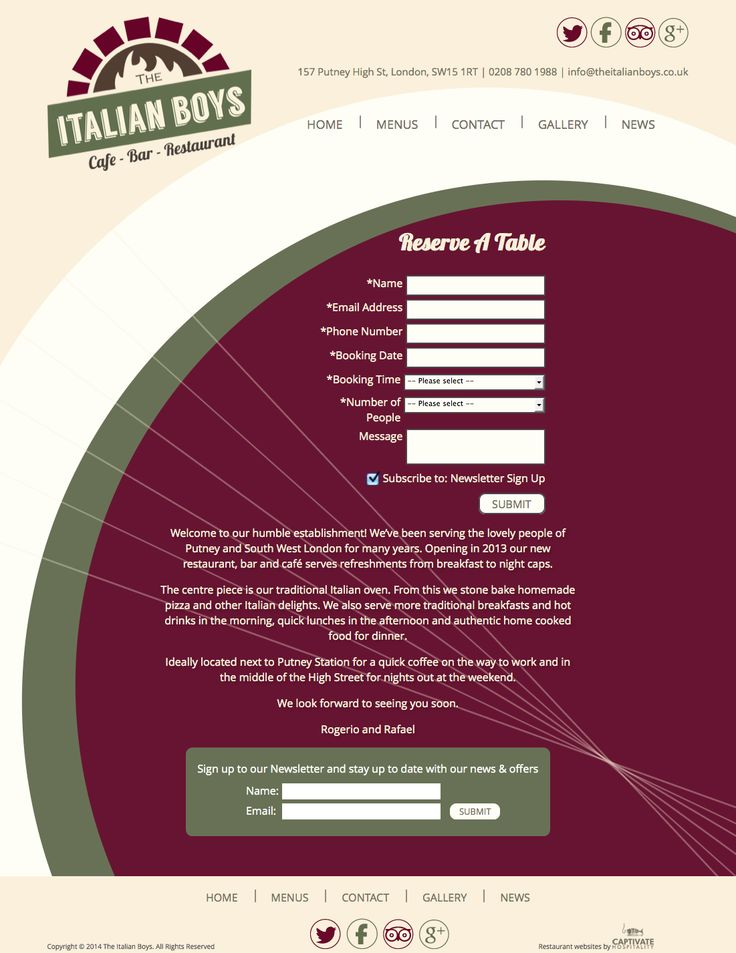 Italian Boys website