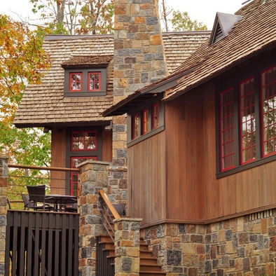 Exterior Painted Cedar Shake Design, Pictures, Remodel, Decor and Ideas - page 29