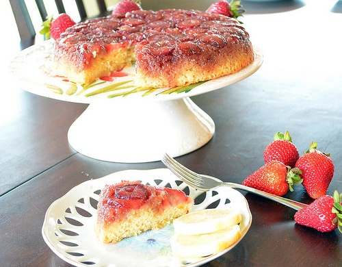 Upside down cakes, Lemon cakes and Strawberries on Pinterest