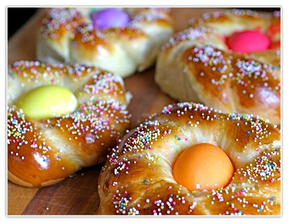 """Italian Easter Bread these are called """"Pupa con l'uova"""" at least in Sicily."""