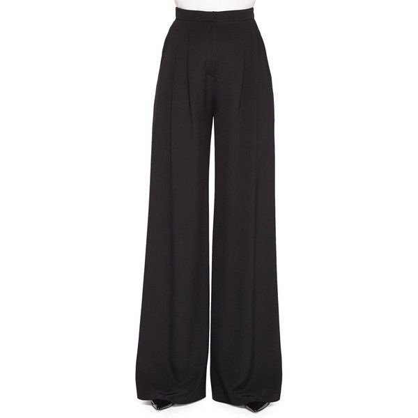Carolina Herrera Women's Wide-Leg Pants With Pleated Front - Black (0) found on Polyvore