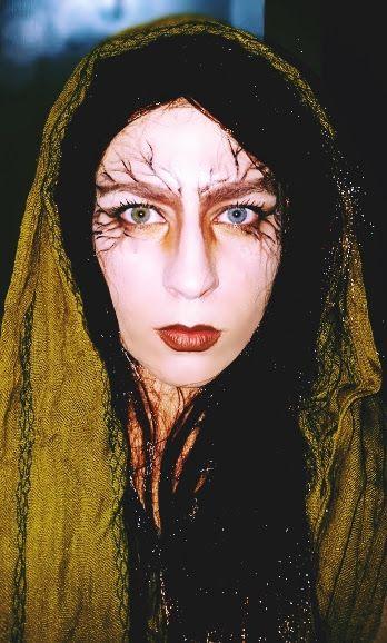 I try to do dryad makeup. #makeup #fantasymakeup #dryad #cosplay