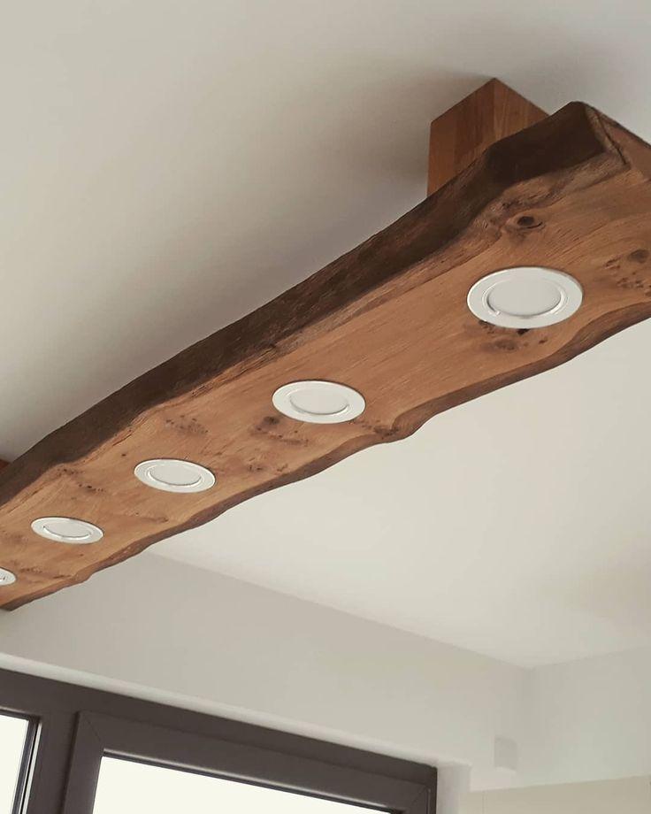 DIY Deckenlampe aus Eiche