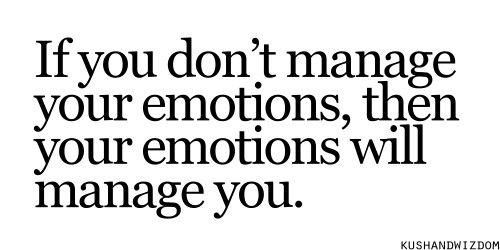 Emotions...