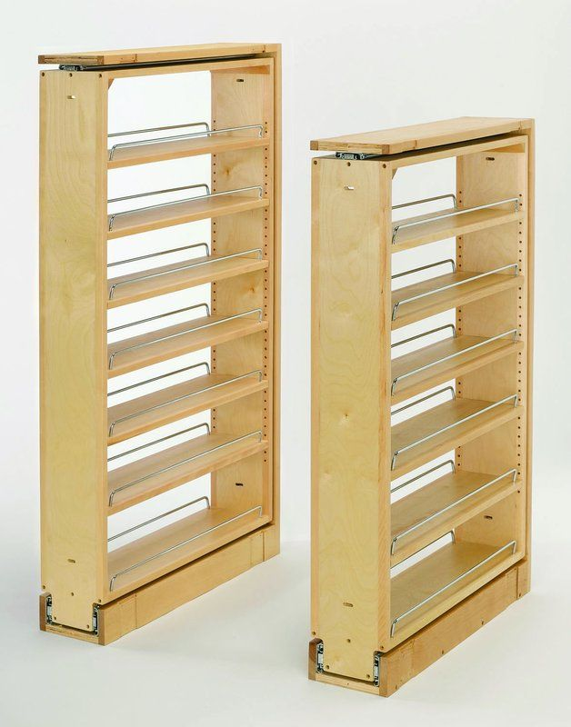 """Rev-A-Shelf 432-TF39-6C Natural Wood 432 Series 39"""" Tall Filler Pull Out with Adjustable Shelves"""