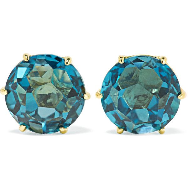 Ippolita Rock Candy 18-karat gold topaz earrings (58.865 RUB) ❤ liked on Polyvore featuring jewelry, earrings, handcrafted jewelry, glitter earrings, rock jewelry, topaz jewelry and post earrings