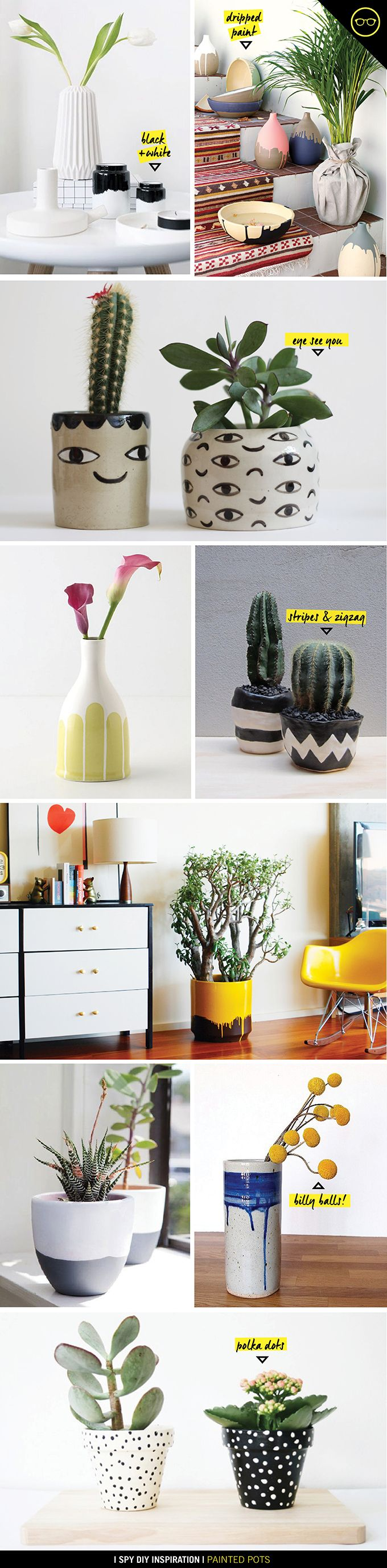 INSPIRATION | Painted Pots
