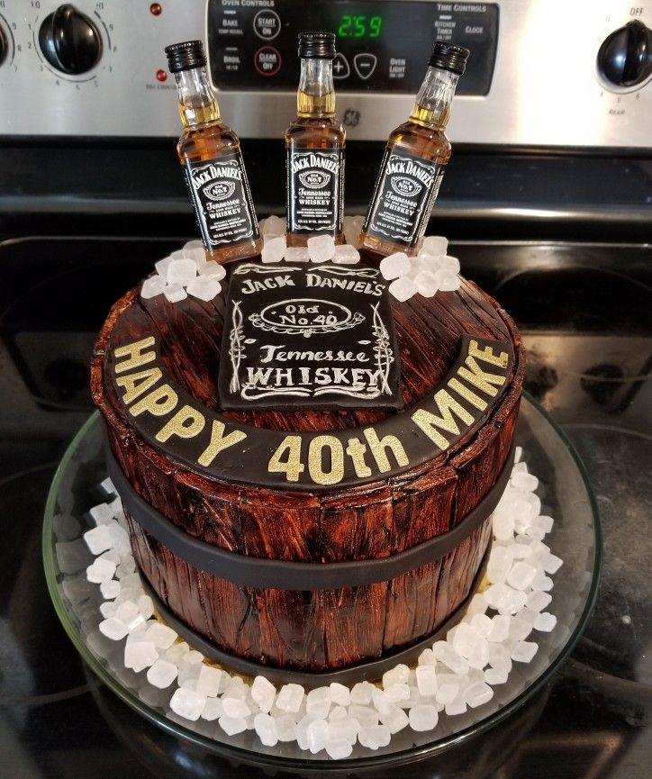 Jack Daniel S Birthday Cake For Husband S 40th Birthday Party