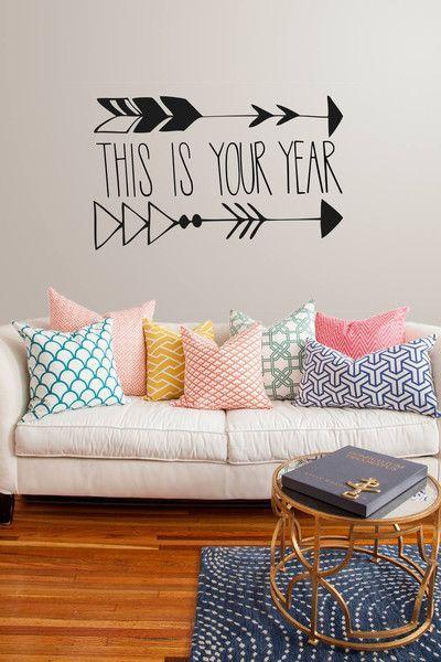 inspiracje w moim mieszkaniu: Naklejki ścienne z napisem / Wall stickers with th...