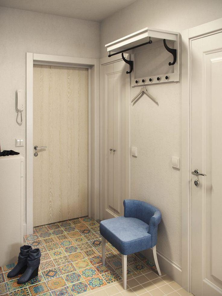 прихожая дизайне однокомнатной квартиры 36 кв. м.