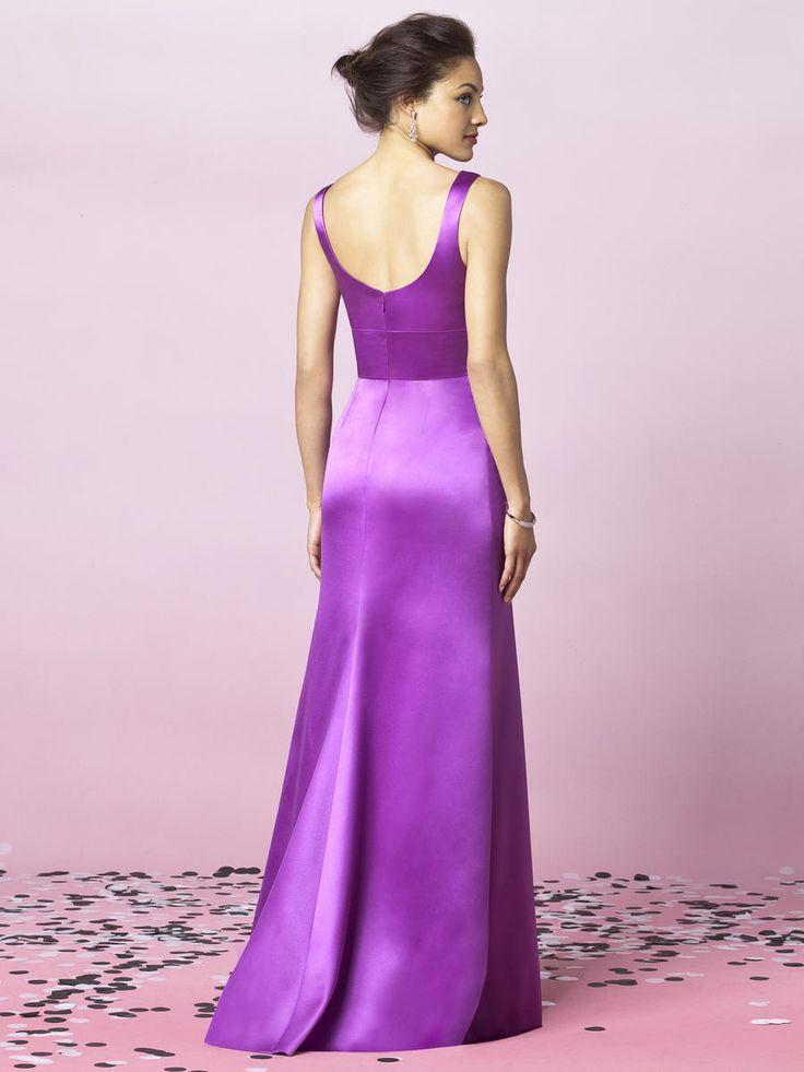 Hermosa Vestido De La Dama De Honor Azul Pizarra Galería - Colección ...