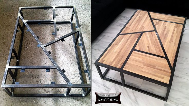 Tube Steel And Wood Coffee Table