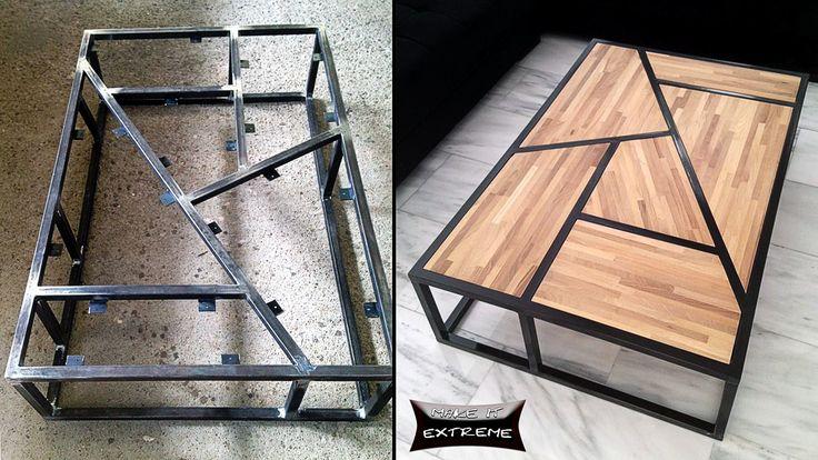 Beautiful Coffee table   Woodworking Jigs  Metal