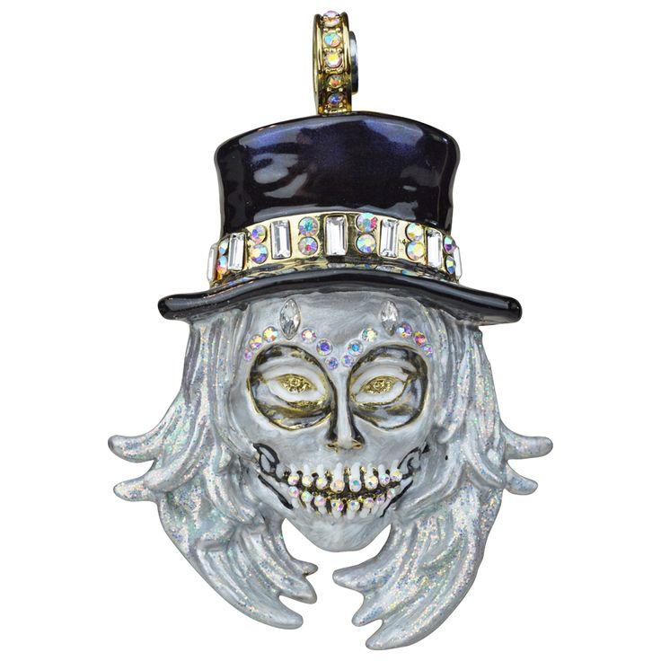 Kirks Folly All Souls Diamond Skull Magnetic Enhancer Goldtone Diamond Skull Kirks Folly Kirks Folly Jewelry