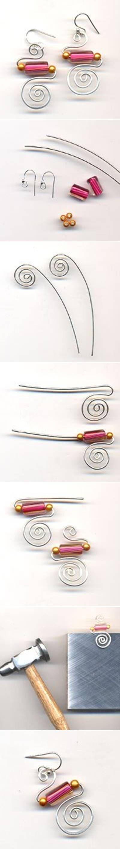 DIY Simple Stylish Wire Earrings