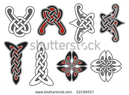 stock vector : Set of celtic design elements