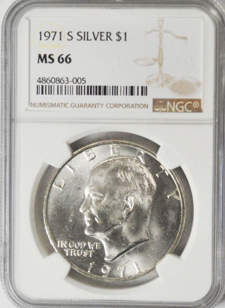 1971 S 1 Silver Eisenhower Ike One Dollar Ngc Ms66 Gem Uncirculated Coin Afflink Contains Affiliate Links When You Click On Links To Va Ebay Uncirculated Coins One Dollar