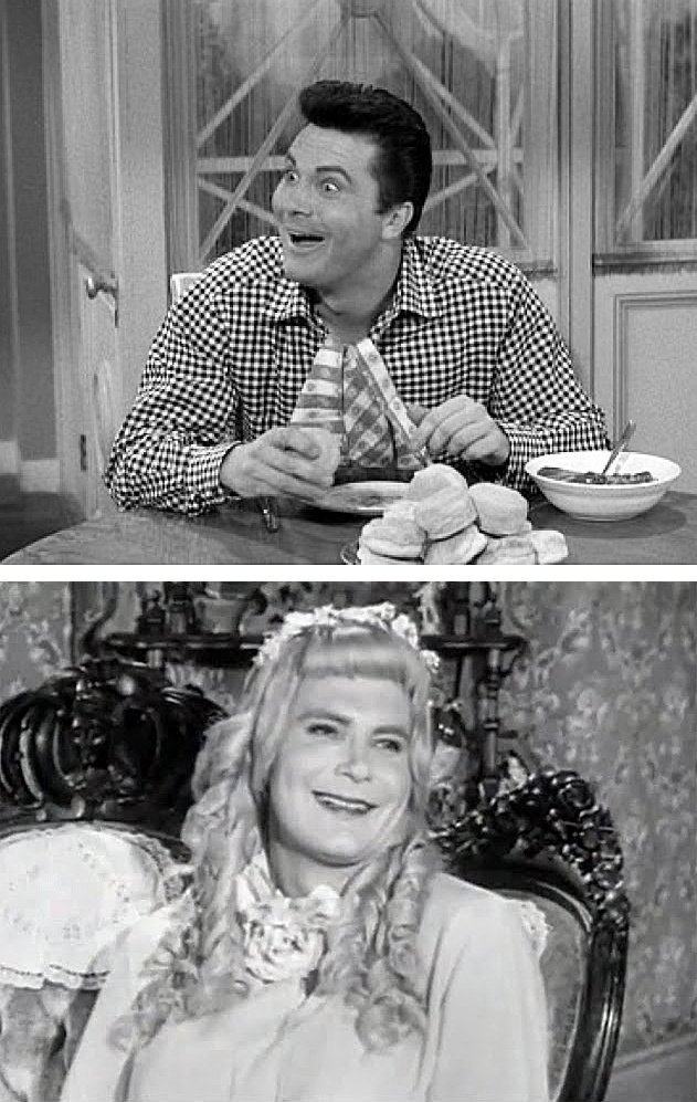 Max Baer Jr. as 'Jethro Clampett' & his twin sister 'Jethrine' in The Beverly Hillbillies (1965-71, CBS)