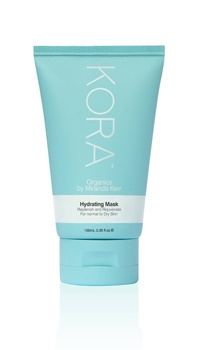 Kora Hydrating Mask. Containing Noni Extract, Vitamins and minerals to restore essential moisture to the skin. This calming uniquely formulated mask cleans, rehydrates and protects the skin. KORA Organics Hydrating Mask refines the pores, removes dead skin cells and promotes healthy tissue rejuvenation leaving the skin feeling replenished and rejuvenated.