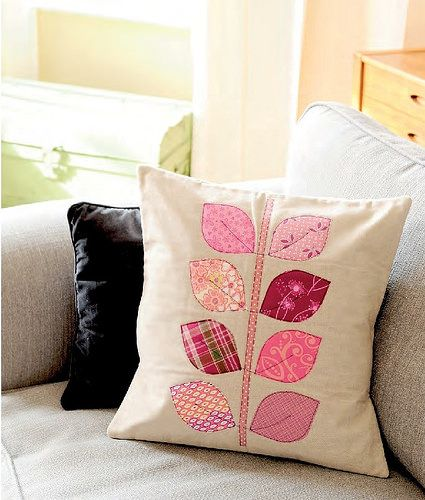 Applique Leaf Cushion (Sewing World May16) | by Just Jude Designs