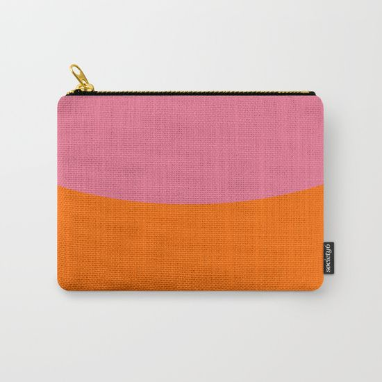 Pink Sky and Orange Field Carry-All Pouch by Bravely Optimistic | Society6