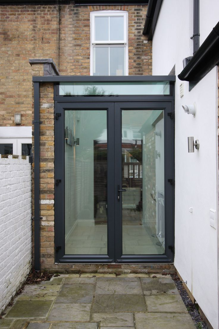 At the far end of the extension aluminium casement doors are used as ...