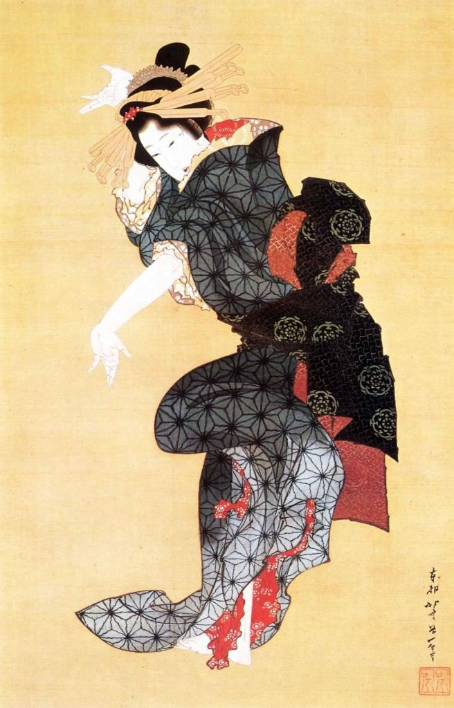 手踊図(葛飾北斎の画)の拡大画像