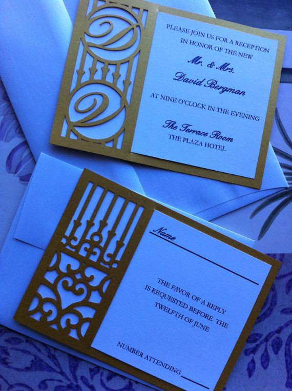 Láser corte invitación de la boda patrón Die por CelineDesigns
