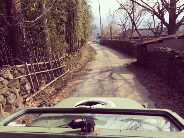 Driving a military jeep through the village. #thedamyanghouse