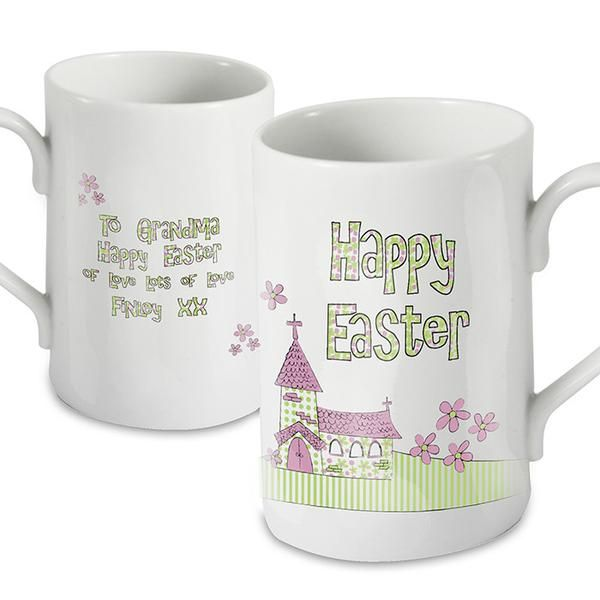 79 best personalised easter gifts images on pinterest easter personalised whimsical church easter mug the hut market personalised gift shop negle Gallery
