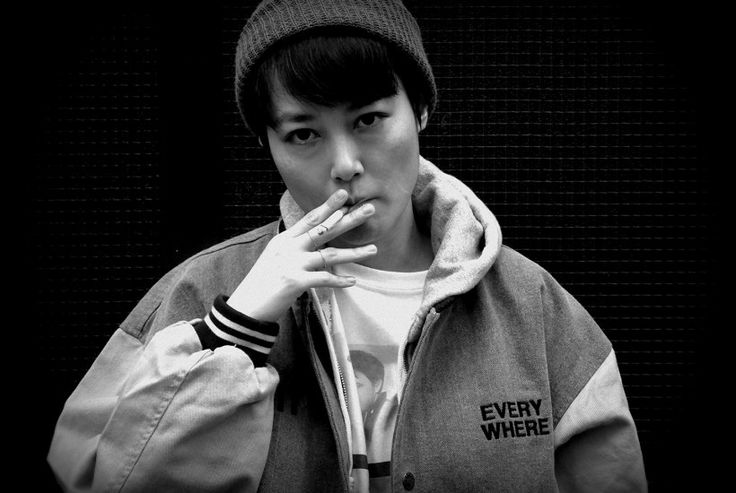 Rinko Kikuchi at theHave a Good Time store located in 1-2-14 Nakameguro,... - purple DIARY
