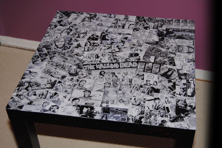 The Walking Dead Comic Book Table. $120,00, via Etsy.