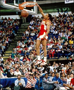 """1986 Slam Dunk Champion, Spud Webb only 5'7"""" with insane leaping ability"""