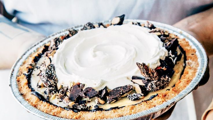 Coconut Cream Pie with Macaroon Press-In Crust Recipe | Bon Appetit