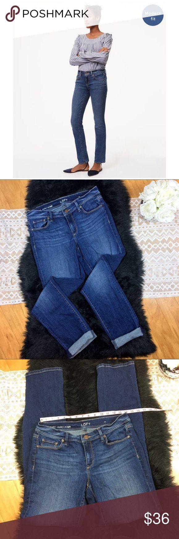 LOFT Modern Straight Tall Jeans LOFT Modern Straight Tall Jeans. Size 29/8 tall with 33' inseam and 8' rise. Has good amount of stretch. Good used condition. LOFT Jeans Straight Leg