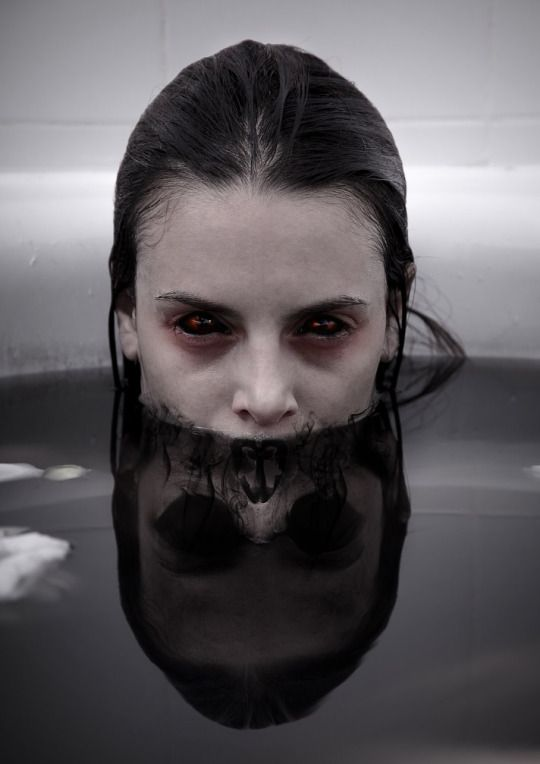 """Reflection.""  #creepy on Tumblr.  Presented by sixpenceee."