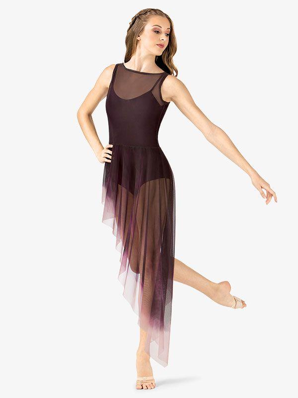b5bcec657876 Painted Asymmetrical Side Drape Tank Lyrical Dress - Ballet/Lyrical |  Watercolour WC233 | DiscountDance.com