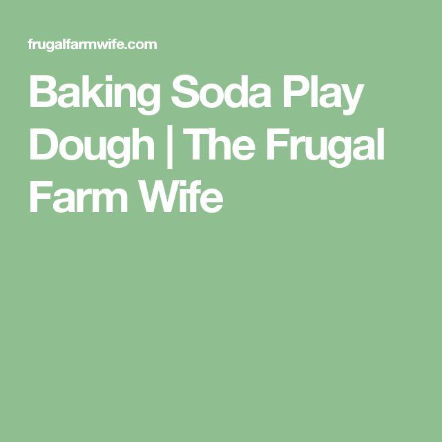Baking Soda Play Dough | The Frugal Farm Wife