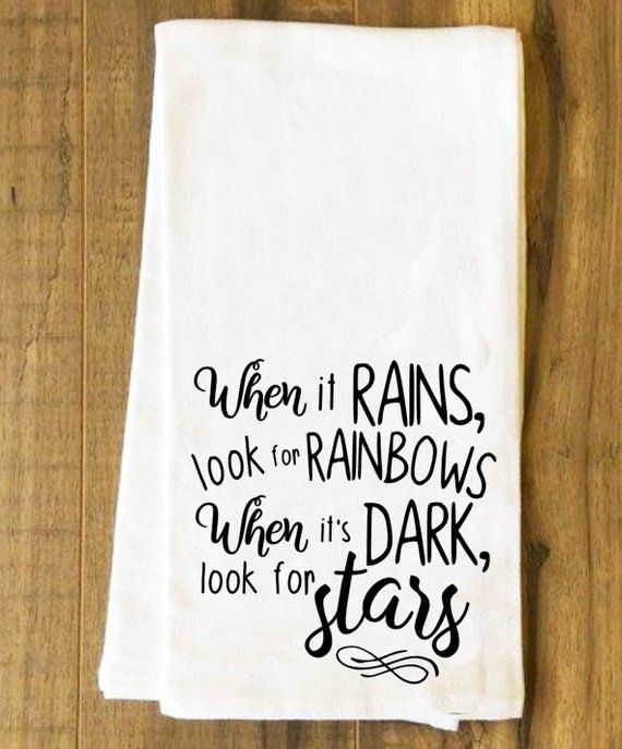 When It Rains/Bar towel/flour sack towel/happy hour/bar gifts/gifts for men/gifts for women/bar accessories/tea towel