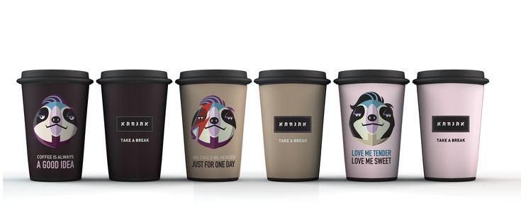 Branding and character development for a coffee shop chain
