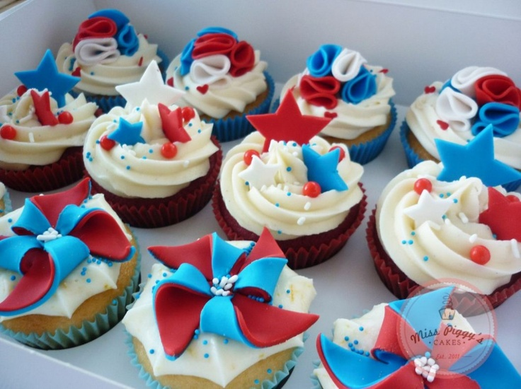 4th of july cupcakes pinterest