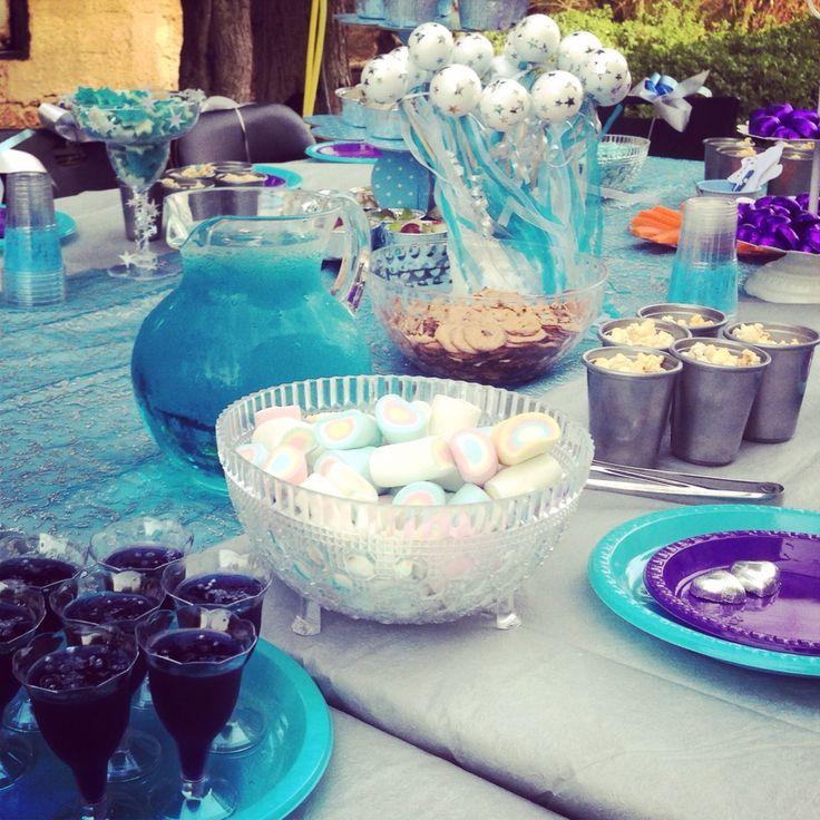 All blue Elsa frozen party