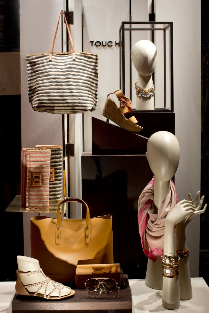 We sell mannequin heads and hands at MannequinMadness.com so you can create displays like this