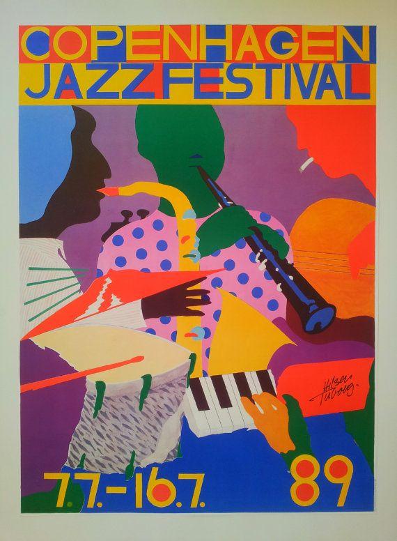 1989 Copenhagen Jazz Festival  Original Vintage by OutofCopenhagen