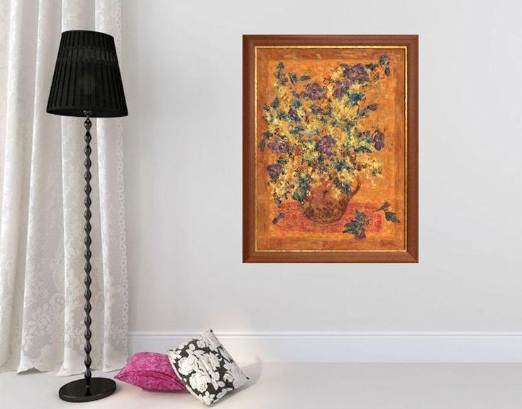 Fine art print, red orange yellow giclee print on canvas, Marilion Fine Art, HIBISCUS by MarilionFineArt on Etsy