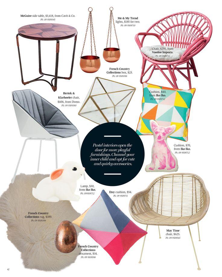Pastel trend. Interior inspiration Winter 2015.
